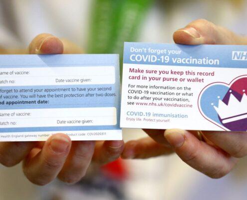 NHS Vaccine Card